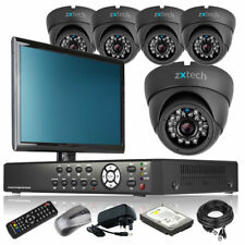5 x Sony Effio-E Camera Full D1 8 Channel DVR CCTV Kit Cloud P2P with Monitor 3G