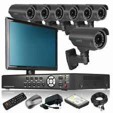 7 x Focal Lens Camera Full HD 8 CH DVR CCTV System Motion Detection with Monitor