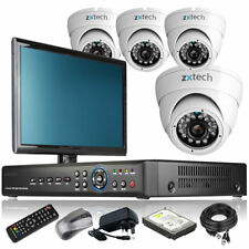 4 x Sony CCD Camera Full D1 4 CH DVR CCTV Package Motion Detection with Monitor