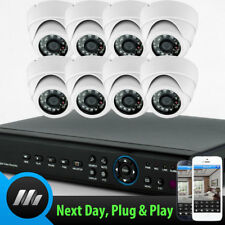 8 x Sony 700 TVL CCD Dome Cam 8 Channel H264 D1 DVR CCTV Complete Security Kit