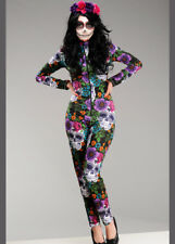 Day of The Dead Sugar Skull Catsuit Costume