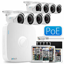 8x Full HD 1080p color IP CAMUFLAJE 8 Canal NVR COMPLETO POE HDMI P2P