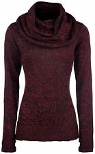Black Premium by EMP Up The Neck Pullover donna nero/rosso