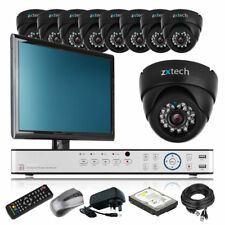 9 x Professional Camera HD-MI 16 CH DVR CCTV Package Motion Detection Monitor 3G