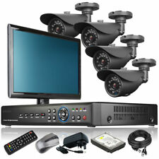 4 x Outdoor Camera Full 960H 4 CH DVR CCTV System Motion Detection with Monitor