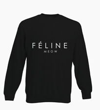 Feline Meow Funny Hipster Cat Celine Tumblr Kids Sweater Jumper Boys Girls