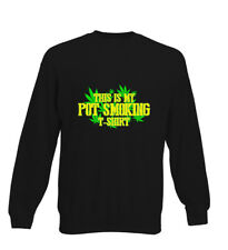 This Is My Pot Smoking Tshirt Funny Weed Dope Stoner Kids Sweater Jumper Boys Gi