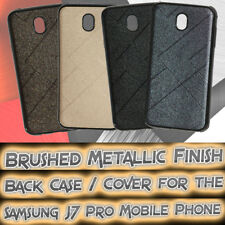 For Samsung Galaxy J7 Pro Brushed Metallic Finished Soft Silicon Back Cover Case