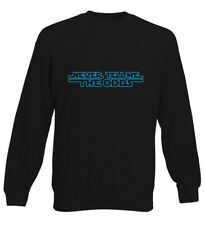 Never Tell Me The Odds Han Wars Funny Milennium Kids Sweater Jumper Boys Girls