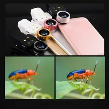 4 in1 Camera Lens Wide angle +0.4x Macro + 15X Fisheye + Fill Light For Phone PC