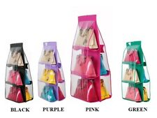 6 Pocket Shelf Bags Purse Handbags Hanging Organizer Storage