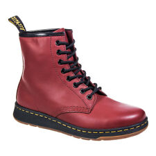 Stivaletti Anfibi A Stringa In Pelle Dr Martens Newton Cherry Red Rosso Ciliegia
