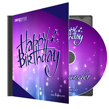 Personalised Pop Party Happy Birthday Song with ANY Name MP3 File or Physical CD