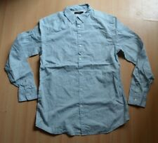 Branded Mens Long Sleeves Partywear Printed Shirt M, L, XL Size Light Blue Color