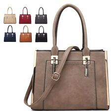 Ladies Faux Leather Shoulder Bag Evening Party Grab Bag Handbag Tote MA34528