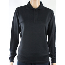 MAGLIA POLO DONNA 3 BOTTONI.LANA MERINOS 80% MADE IN ITALY S-M-L-XL-XXL NERO