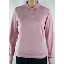 MAGLIA POLO DONNA 3 BOTTONI.LANA MERINOS 80% MADE IN ITALY S-M-L-XL-XXL ROSA
