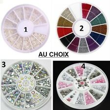 CARROUSSEL 3D STRASS PERLE ONGLE NAIL ART ARGENT DORE MULTICOLORE NEUF ONG022