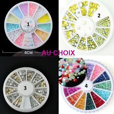 CARROUSSEL 3D STRASS PERLE ONGLE NAIL ART ARGENT DORE MULTICOLORE NEUF ONG025