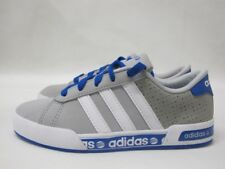 Junior Adidas Daily Mono Grey White Sport Shoes Lace Up Boys Trainers