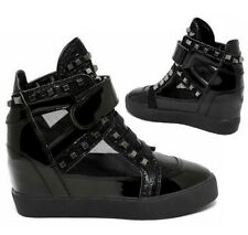 New Ladies Lace Up Womens Autumn Winter Wedge Sneakers Boots High Top Shoes Size