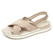 C8868 sandalo donna HOGAN H257 scarpa fasce incrociate beige shoe woman