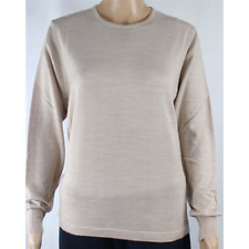 MAGLIA DONNA PARICOLLO.LANA MERINOS 80% MADE IN ITALY S-M-L-XL-XXL BEIGE