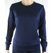 MAGLIA DONNA PARICOLLO.LANA MERINOS 80% MADE IN ITALY S-M-L-XL-XXL BLU