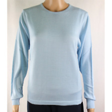 MAGLIA DONNA PARICOLLO.LANA MERINOS 80% MADE IN ITALY S-M-L-XL-XXL CIELO