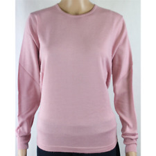 MAGLIA DONNA PARICOLLO.LANA MERINOS 80% MADE IN ITALY S-M-L-XL-XXL ROSA