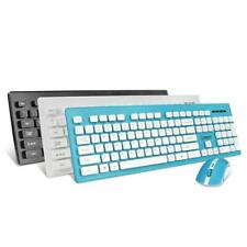 Wireless Keyboard and Mouse Combo Ergonomic Compact Set 2.4 G for Desktop