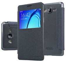 100% Nillkin   Sparkle Series Leather Flip Cover Case For Samsung Galaxy On 7