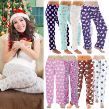 Ladies Girls Fleece Unicorn Lounge Pants Pyjama Bottoms Night Trousers Pjs