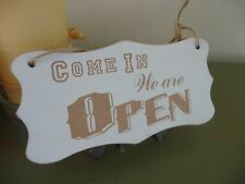 Open / Closed Shop Sign Wooden Shabby Double Sided Hanging Door Window Chic Bar