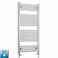 1100 mm High 600 mm Wide Designer Chrome Heated Towel Rail Radiator Bathroom Rad