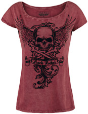 Rock Rebel by EMP Skull Wings Shirt Maglia donna bordeaux