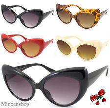 Mujer Rockabilly Vintage Cat Eye Gafas de Sol Retro Estilo 50's Pin-Up