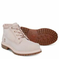 Timberland Nellie Ladies Chukka Boots In Cameo Rose Pink Waterbuck Leather