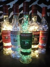 DIY Bottle Lamp Shots Jagermeister Sambuca Tequila Upcycle Recycle Lights