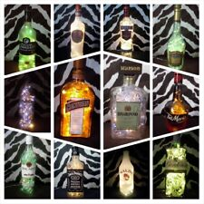 DIY Bottle Lamp Archers Baileys Martini Chambord Taboo Upcycle Recycle Lights