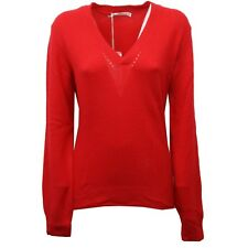 C8696 maglione donna NORTH SAILS lana rosso v neck sweater woman
