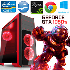 Quad Core i7 Gaming PC Windows 10 Desktop Computer 16GB GTX 1050 Ti 4GB 1TB