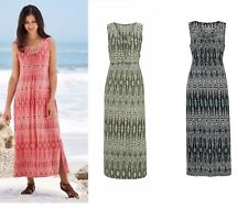 Plus size 16-38 UK Ladies womans summer holiday maxi long beach feather dress