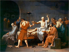 Aluminio-Dibond The Death of Socrates - Jacques-Louis David
