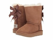 Children's Shoes UGG Toddler Bailey Bow 1017394T Chestnut *New*