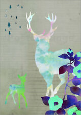 Cuadro sobre lienzo Deer Collage - GreenNest