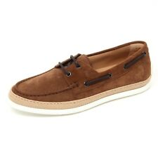 C9976 barca uomo TOD'S scarpa mocassino rafia marrone loafer shoe man