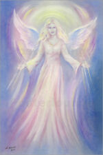 Cuadro sobre lienzo Light and love - Angel painting - Marita Zacharias