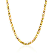 """14k Fully Solid Yellow Gold 2.5mm Wide Italian Miami Cuban Chain Necklace 18-26"""""""