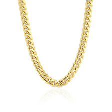 """14k Fully Solid Yellow Gold 4mm Wide Italian Miami Cuban Chain Necklace 20-26"""""""